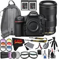 Nikon D850 DSLR Camera (Body Only) 1585 International Model + Nikon AF-S NIKKOR 70-200mm f/4G ED VR Lens Bundle