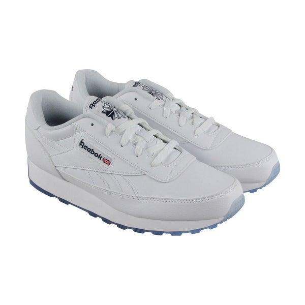 Reebook Classic Renaissance Ice Mens White Leather Athletic Running Shoes a2d9ff7fc