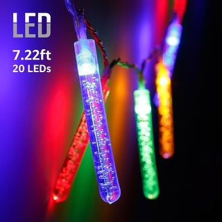 7.22ft 20 LED Bubble Stick String Lights, Utility Ambiance Lighting for Christmas