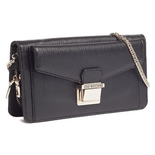 Moschino JC4175 0000 Black Crossbody/Wallet on a Chain Bag