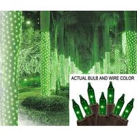 2' x 8' Green Mini Christmas Net Style Tree Trunk Wrap Lights - Brown Wire
