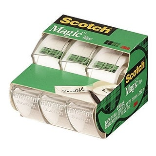 3M 3105 Scotch Magic Tape 3 Pack Sctch Magic Tape