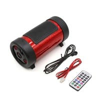 Digital 4 Inches Dia. Red Bass Cylinder Subwoofer Tube MP3 Player for Motorcycle