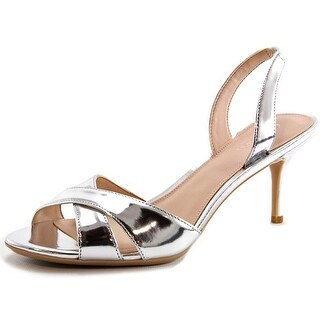 Calvin Klein Lucette Open Toe Patent Leather Sandals