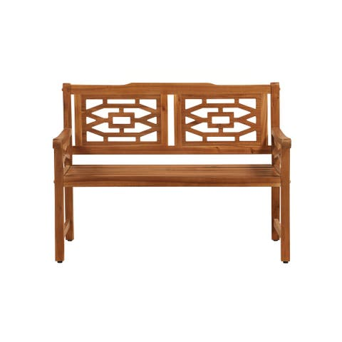 OVE Decors Malay 48 in. Bench with Natural Wood Look Finish - 48 in.