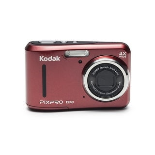 Kodak PixPro FZ43 Compact Digital Camera 16MP 4X Zoom HD 720P (Red)