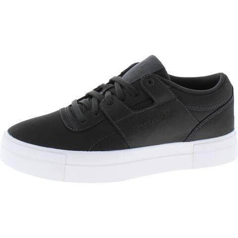 Reebok Womens Workout Lo Fvs Txt Fashion Sneakers Lifestyle Platform - Coal/White