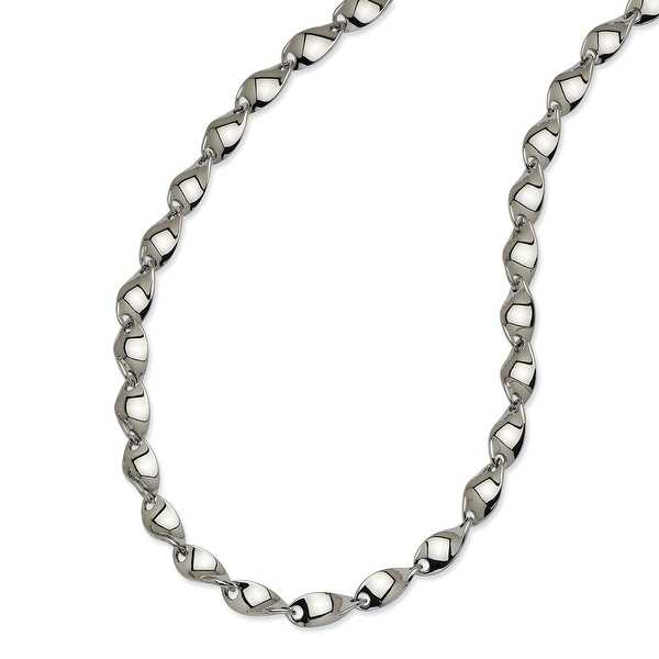 Chisel Stainless Steel Polished Twisted 20 Inch Necklace (8 mm) - 20 in