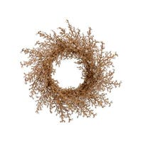 "28"" Elegant Gold Iced Twig Artificial Christmas Wreath - Unlit"