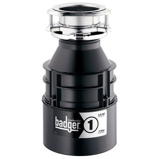InSinkErator BADGER 1 Continuous Feed Food Waste Garbage Disposal, 1/3 HP