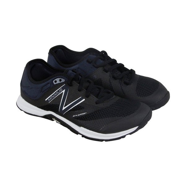 New Balance Enterainment Womens Black Mesh Athletic Lace Up Training Shoes