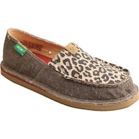 Twisted X Boots Women's WCL0001 Casual Loafer Dust/Leopard Canvas