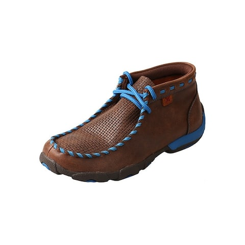 Twisted X Casual Shoes Boys Rubber Lace Up Mocs Brown Blue