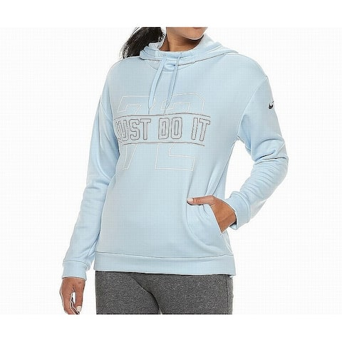 Nike Light Blue Women's Size XS Hooded Logo Loose-Fit Sweater