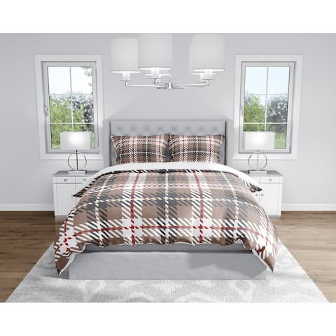 AIDEN RED Duvet Cover By Kavka Designs
