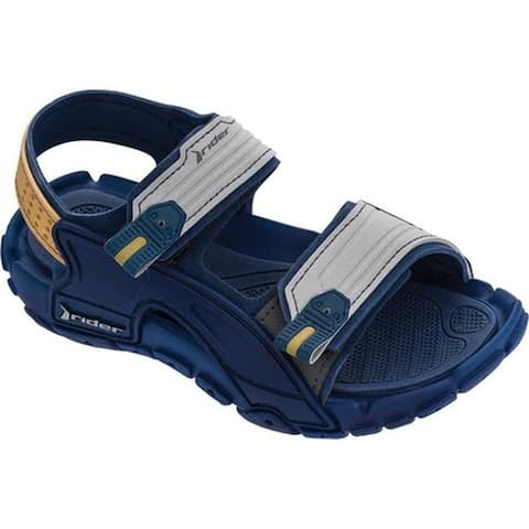 Rider Children's Tender X Two Strap Sandal Blue/Grey Synthetic