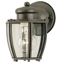 Westinghouse 64689 One-Light Exterior Wall Lantern, Textured Rust Patina