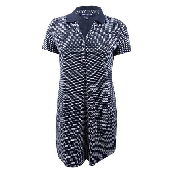 c72989619a Shop Tommy Hilfiger Women's Dot-Print Polo Dress - Sky Captain - XL - Free  Shipping On Orders Over $45 - Overstock - 28069036