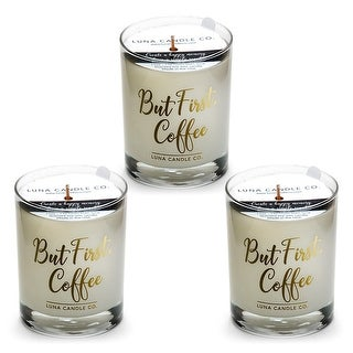 Caramel Coffee Candle, Hints of Maple and Caramelized Sugar (3 Pack)