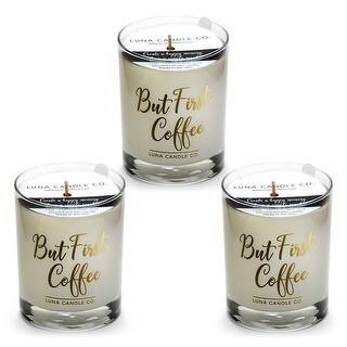 Fragrant Caramel Coffee Scented Candle, Natural Soy Wax, USA (3 Pack)