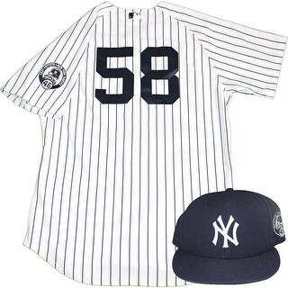 Larry Rothschild Uniform NY Yankees 2015 Game Used 58 Jersey and Hat w Pettitte Retirement Patch