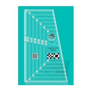 """Link to Creative Grids Straight Out of Line 6in x 10in Quilt Ruler - 0.25"""" x 6"""" x 10"""" Similar Items in Sewing & Quilting"""