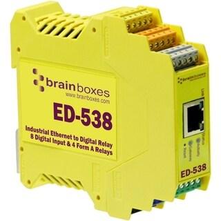 """Brainboxes ED-538 Brainboxes ED-538 Ethernet To Digital IO RelayIO Relay"""