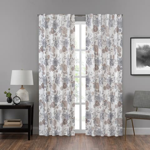 Eclipse Draftstopper Summit Botanical Window Curtain Panel