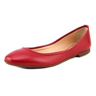 Sweet Ballerina Mara2 Women Round Toe Leather Red Ballet Flats