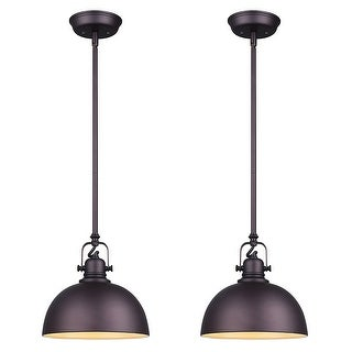 Canarm Luztar Set of 2 Polo 1 Light Pendant -Oil Rubbed Bronze Finish