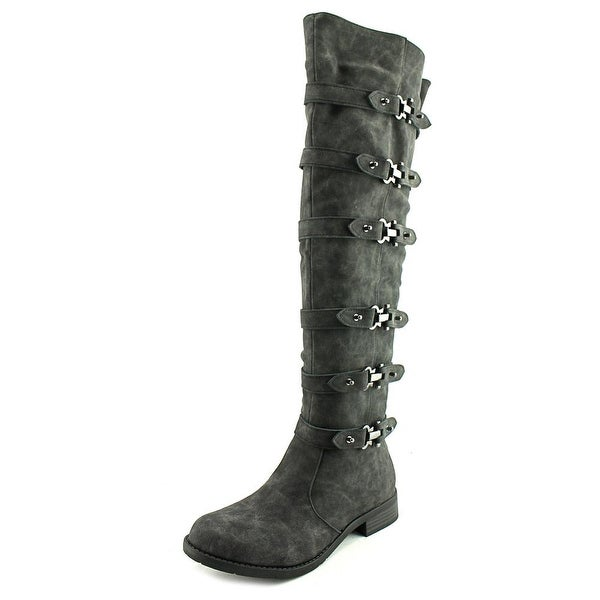 2 Lips Too Too Jumper Women Round Toe Synthetic Knee High Boot