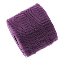 BeadSmith Super-Lon (S-Lon) Cord - Size 18 Twisted Nylon - Plum (77 Yard Spool)