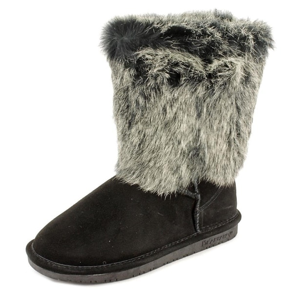Bearpaw Keely Women  Round Toe Suede Black Winter Boot