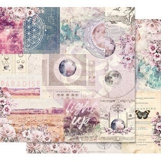 """Moon Child Foiled Double-Sided Cardstock 12""""X12""""-Galactic Love"""