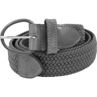 Florsheim Men's Braided Elastic Stretch Belt Gray Braided Elastic