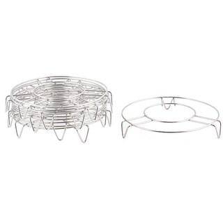 Home Kitchen Stainless Steel Round Design Baking Steamer Steam Rack Stand 10pcs