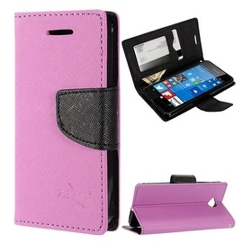 Insten Stand Folio Flip Leather Wallet Flap Pouch Case Cover for Microsoft Lumia 650
