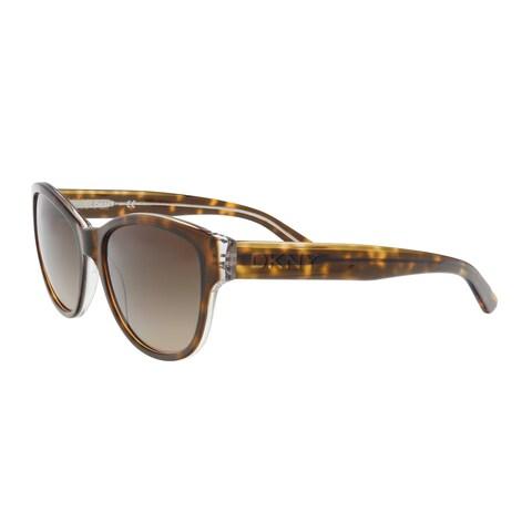 DKNY DY4133 368713 Dark Tortoise Crystal Round Sunglasses - 55-17-140