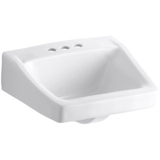 "Kohler K-1728  Chesapeake 14"" Wall Mounted Bathroom Sink with 3 Holes Drilled and Overflow"