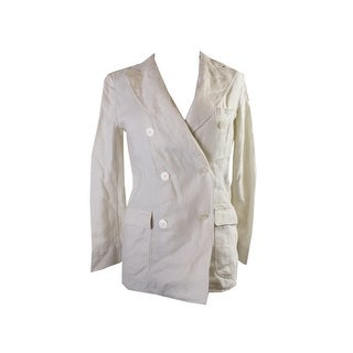 Denim Supply Cream Linen Double-Breasted Jacket S