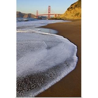 """Golden Gate bridge at sunset."" Poster Print"
