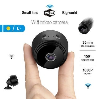 AGPtek Wireless Mini Wi-Fi Camera For Home Hidden Camera HD 1080P DV Video Recorder with Night Vision