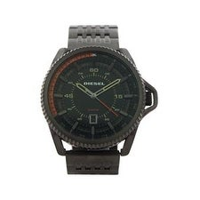 Diesel Dz1719 Rollcage Gunmetal Ion Plated Stainless Steel Bracelet Watch Watch For Men