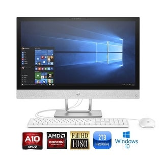 "HP Pavilion 24-R029 AMD- A10 Quad-Core 8GB 2TB HDD 23.8"" FHD All-in-One PC (Certified Refurbished)"