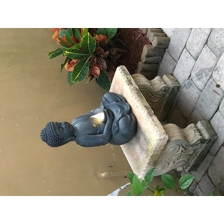 Meditating Buddha Garden Statue with Solar Light