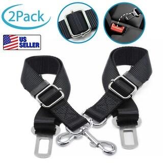 Partysaving Adjustable Nylon Car Pet Seat Belt, Set of 2