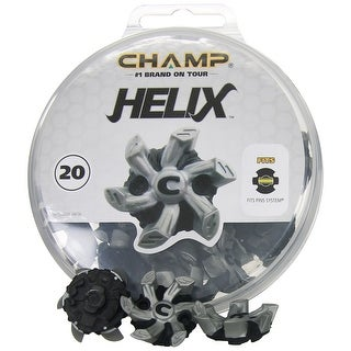 Champ Helix PINS System Soft Spike Replacement Golf Cleats - Silver