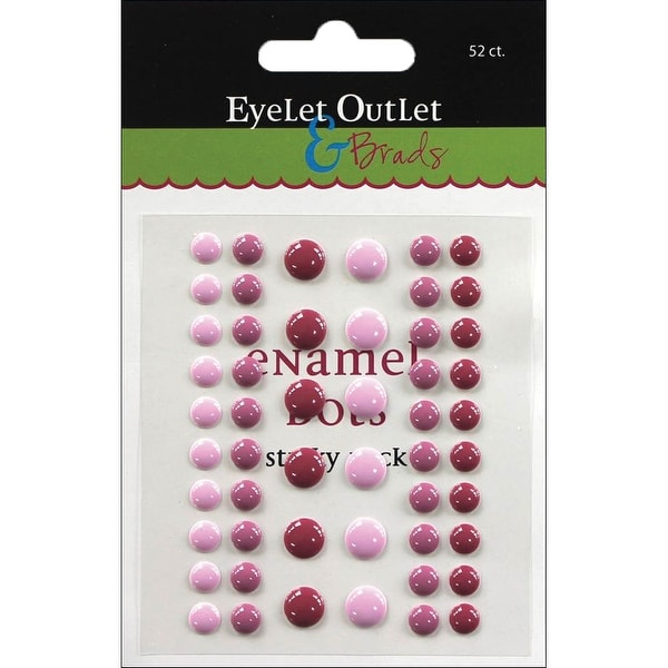 Eyelet Outlet Adhesive-Back Enamel Dots 52/Pkg-Purples - Purple