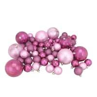 125ct Bubblegum Pink Shatterproof 4-Finish Christmas Ornaments