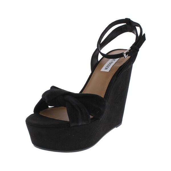 Steve Madden Womens Tylie Wedge Sandals Open Toe Slingback